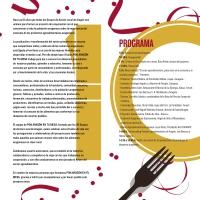 10 años Pon Aragón en tu mesa-folleto programa